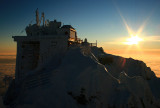 Observatory and sunrise