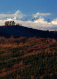 Snowy Tatras and colourful trees