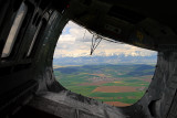 From the helicopter door