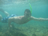 That's me snorkeling