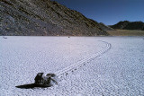 The moving rocks of the Racetrack. Death Valley National Park.