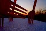 Forks at sunset
