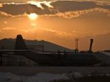 Danish C130 in the setting sun