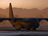 RAAF C130 in the evening light, Kabul