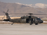 UH-60 Blackhawk on the apron