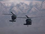 UH-60 Blackhawks approaching to land