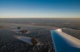 The icy Veluwe-lake