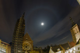 Moon Halo in high clouds