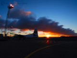 Sunrise at Copenhagen airport