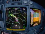 Navigation Display, approaching Amsterdam