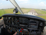 Short final Teuge, The Netherlands