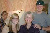 justin, alex, grandma joyce, and adam