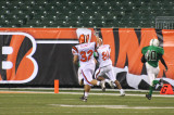 nick heads for the end zone