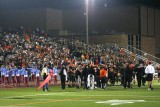 crowd in brown stadium for playoff game