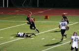 truesdell heads for the endzone
