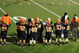 on the sideline