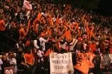 crowd celebrates field goal