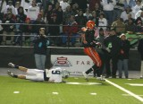 nick avoids a tackle at the 10 yard line