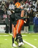 daniel and nick celebrate touchdown