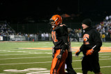nick leaves the field after td