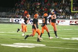defense celebrates fumble recovery