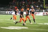 defense celebrates fumble recovery