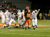 shirmann and aylward celebrating fumble recovery