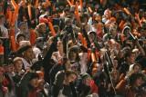 crowd celebrates