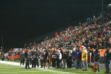 the sideline and the crowd