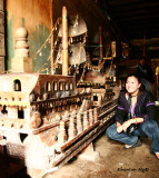 Me in boat carver's house in Marawi
