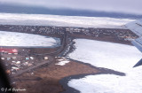 Barrow, Alaska and Chukchi Sea from the air