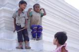 Children Playing on Stuppa in Buddhist Monastery.jpg