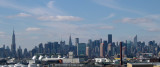 Part of the Manhattan skyline as seen from the Brooklyn-Queens Expressway near the Kosciuszko Bridge