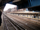 Photo taken from the Cortleyou Road subway station - looking south toward the Newkirk Avenue stop and eventually Coney Island