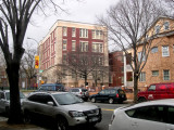P.S. 139, Richard's elementary school, as seen from Cortelyou Road, looking northwest toward Rugby Road.