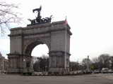 Soldiers' and Sailors' Memorial Arch on Grand Army Plaza in Brooklyn - known as the Arc de Triomphe (Paris) of the  U.S.