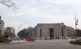 Brooklyn Public Library (main branch) at the corner of Eastern Parkway and Flatbush Avenue at Grand Army Plaza.