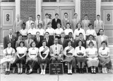 Sixth grade class (6-1) - P.S. 139, Brooklyn. Richard is second from the right - top row. (1954)