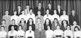 Ninth grade class (9SP7) - Walt Whitman Junior High School (P.S. 246), Brooklyn.  Richard is in third row, left end. (1956)