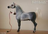 0018- A Breyer Proud Arabian Stallion customised by Sarah Minkiewicz, USA