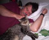 Our older cat, Hawkeye