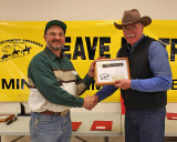 Trygve Clup Receiving his Lifetime Membership Certificate