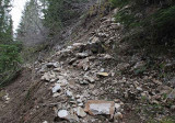 Rock Slide on Packwood Lake Trail, Wider view