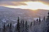 From Åreskutan south into the rising sun