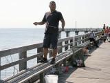 Fisherman on Coney Island fishing pier