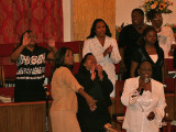 Going out on a Sunday morning to the Greater Highway Deliverance Temple