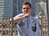 I walked the Brooklyn Bridge -  T shirt vendor