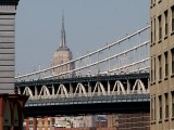 Empire State Building seen from Brooklyn Bridge