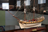 Model inside Maritime Museum