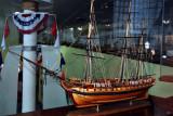 Model inside the Maritime Museum